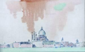 'Venezia lontana', olio, 1970
