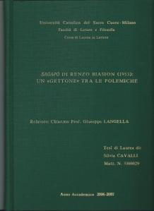 La tesi su Sagapò di Silvia Cavalli